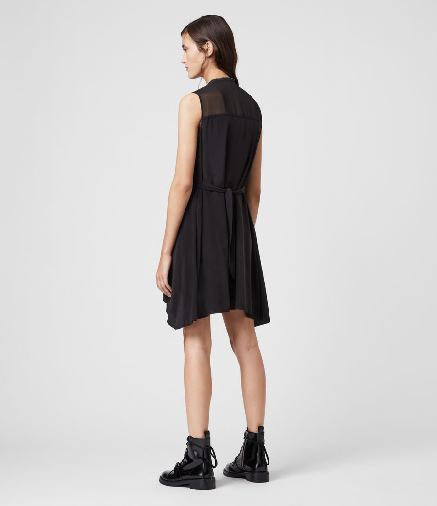 Womens Jayda Silk Dress (black) - Image 5