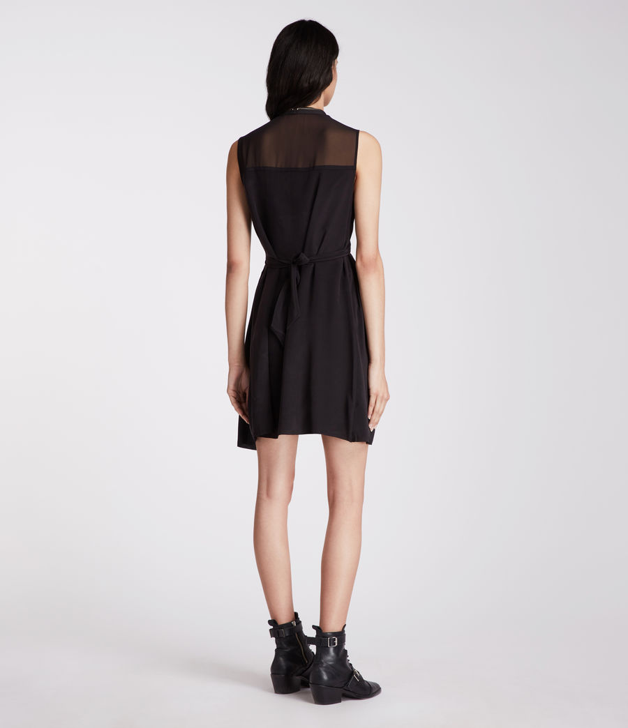 Womens Jayda Silk Dress (black) - Image 7