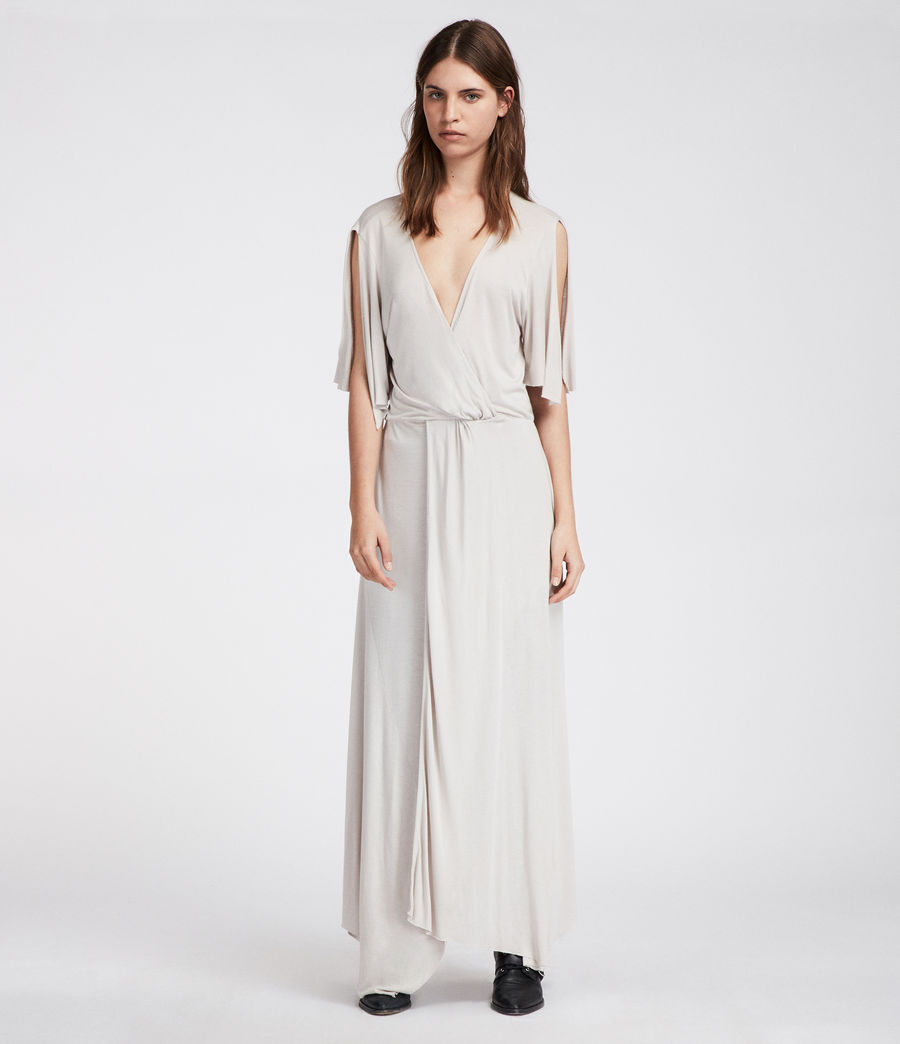 Women's Amira Dress (stone_white) - Image 1