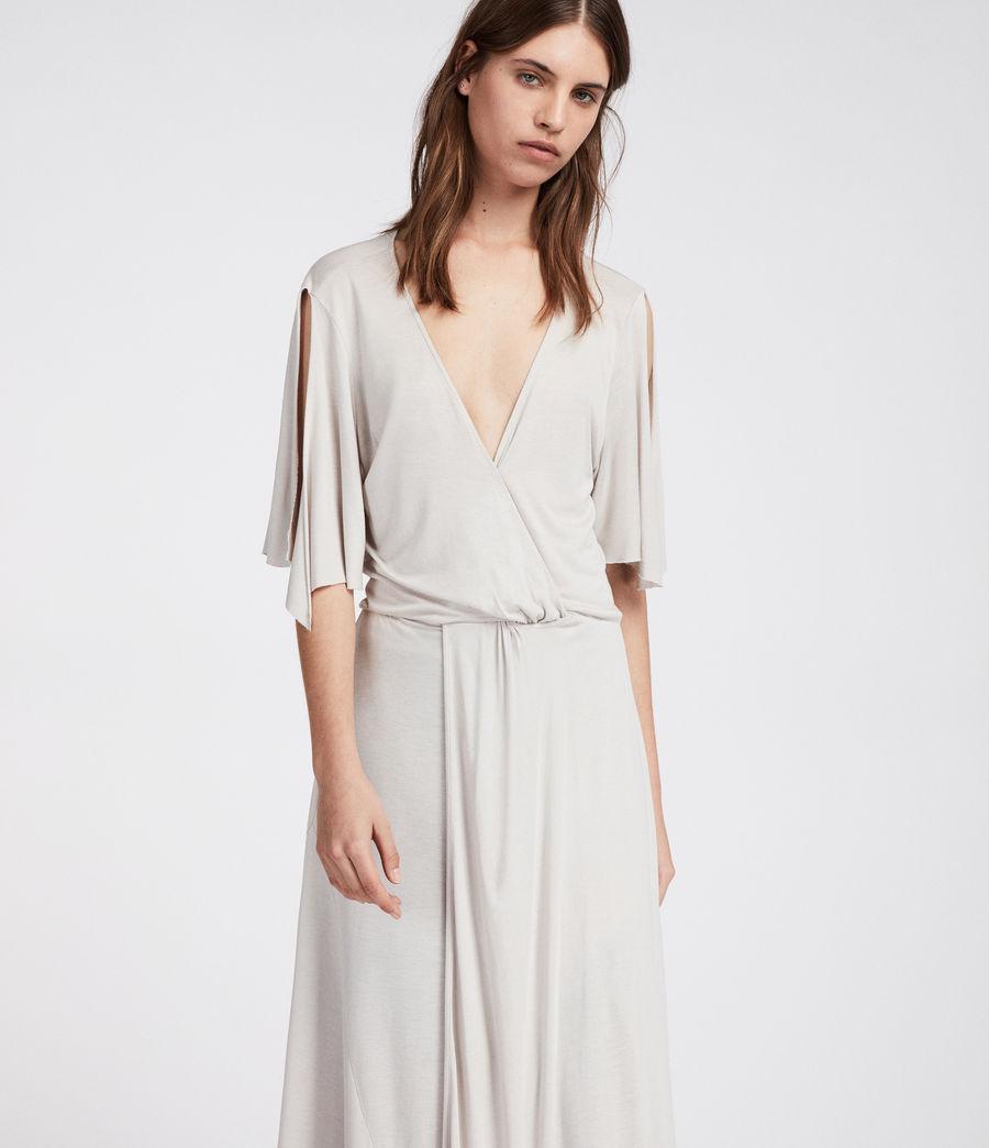 Femmes Robe Amira (stone_white) - Image 2