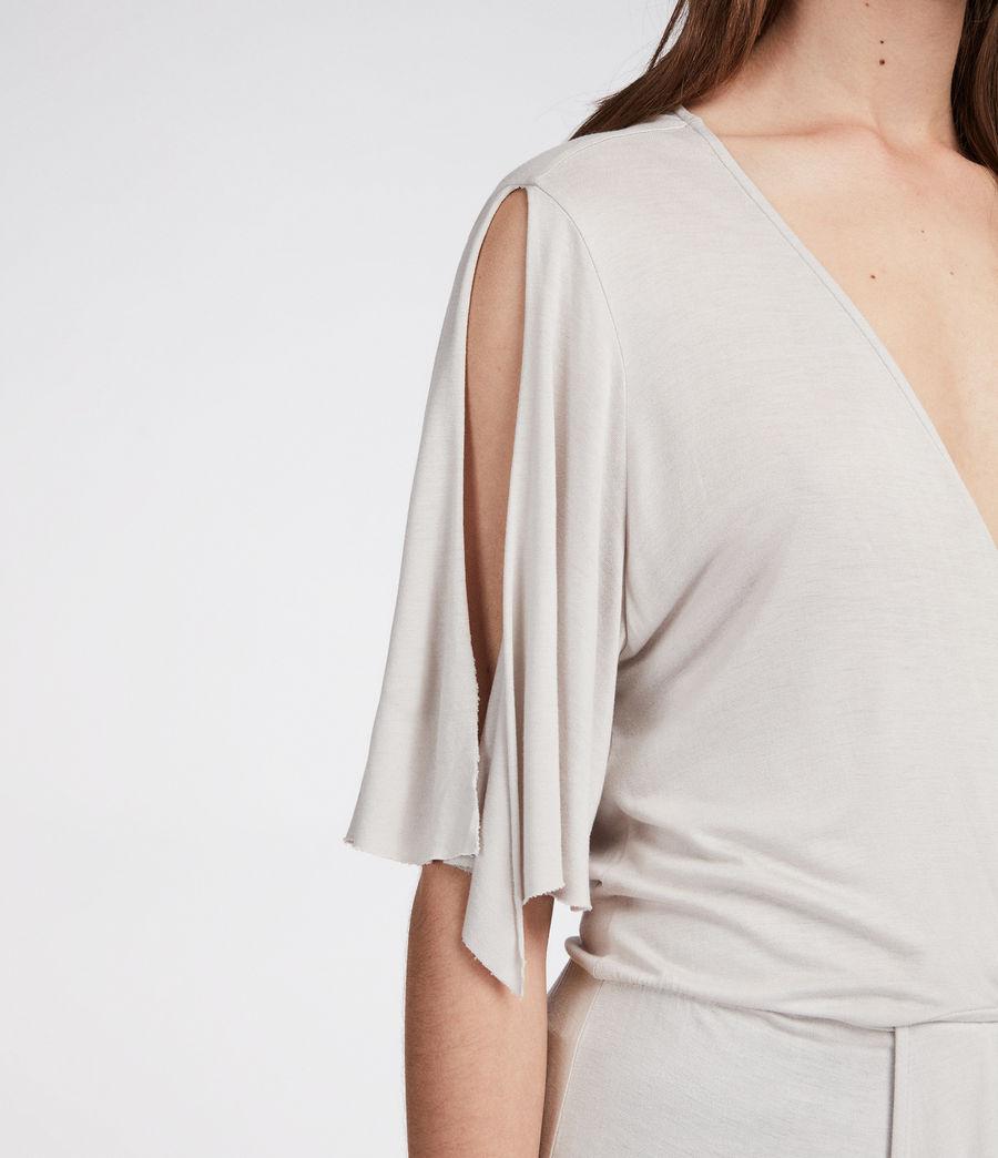 Femmes Robe Amira (stone_white) - Image 3
