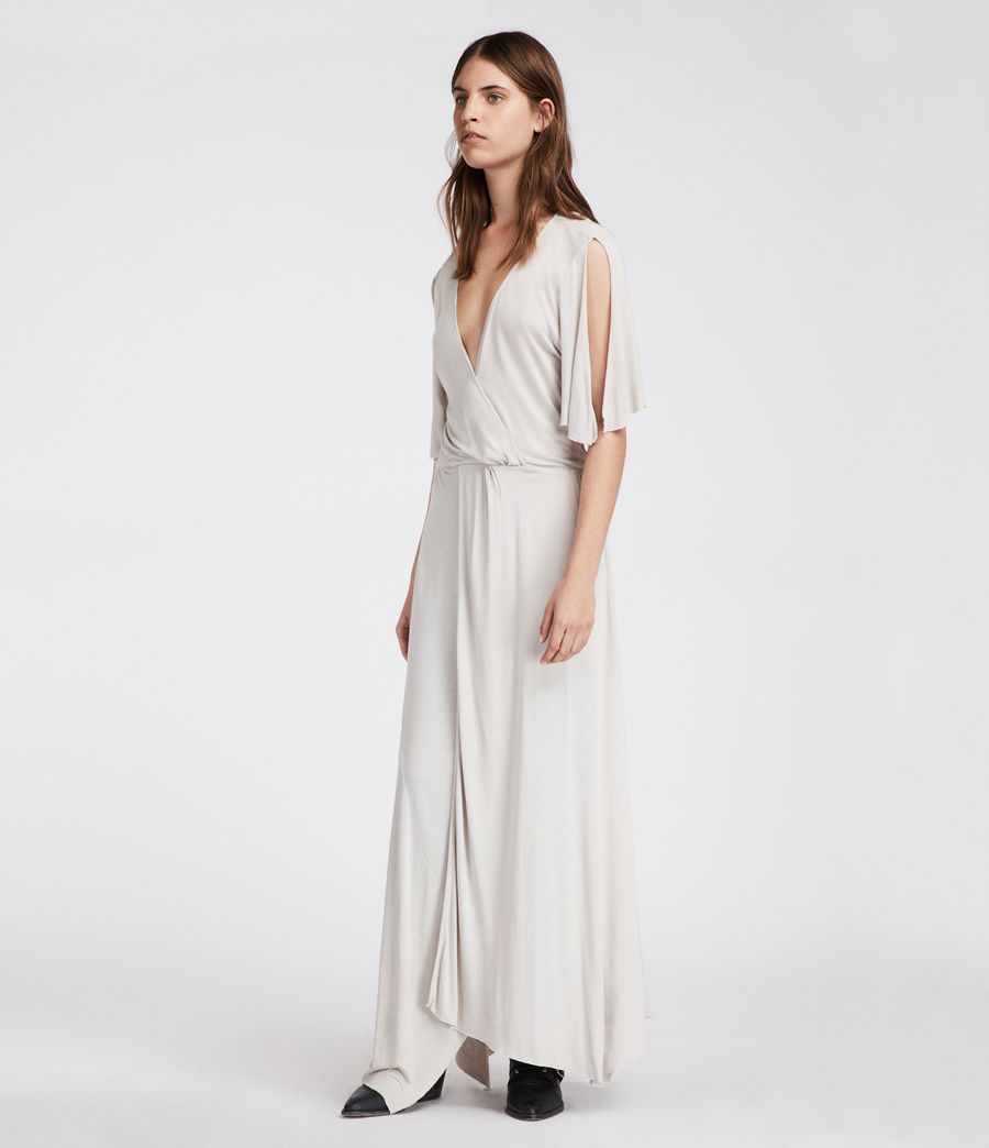 Women's Amira Dress (stone_white) - Image 4