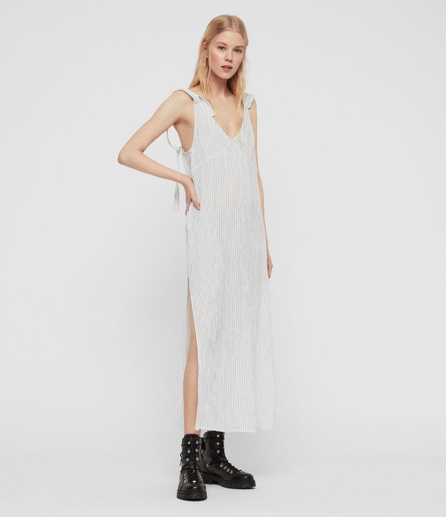 Womens Dalea Stripe Dress (chalk_white_blue) - Image 5