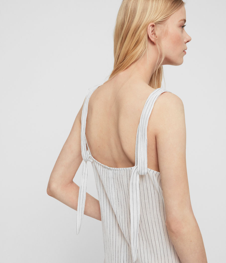 Womens Dalea Stripe Dress (chalk_white_blue) - Image 6