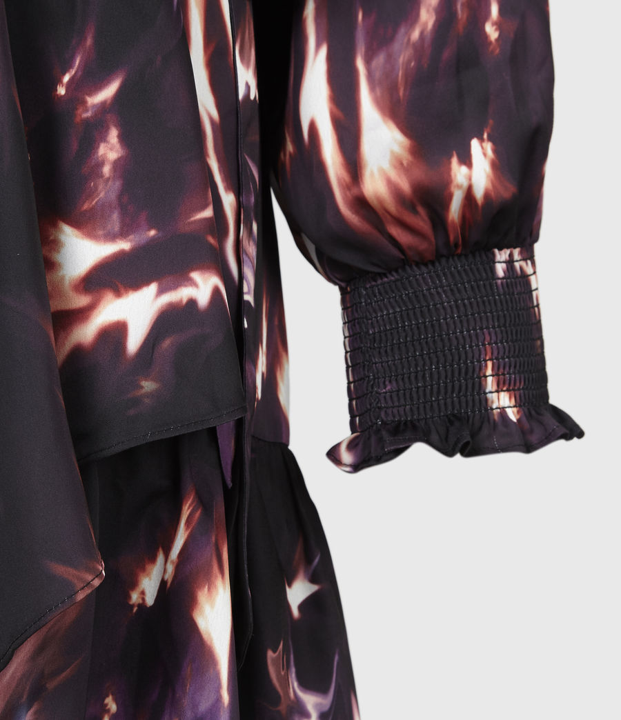 Damen Fina Flames Kleid (black) - Image 5