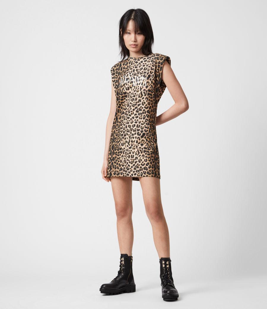 Women's Coni Dropout Dress (leopard_yellow) - Image 1