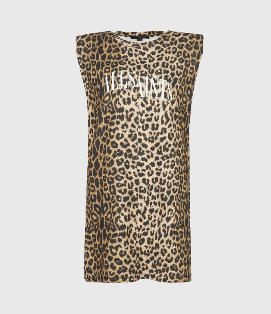 Women's Coni Dropout Dress (leopard_yellow) - Image 2
