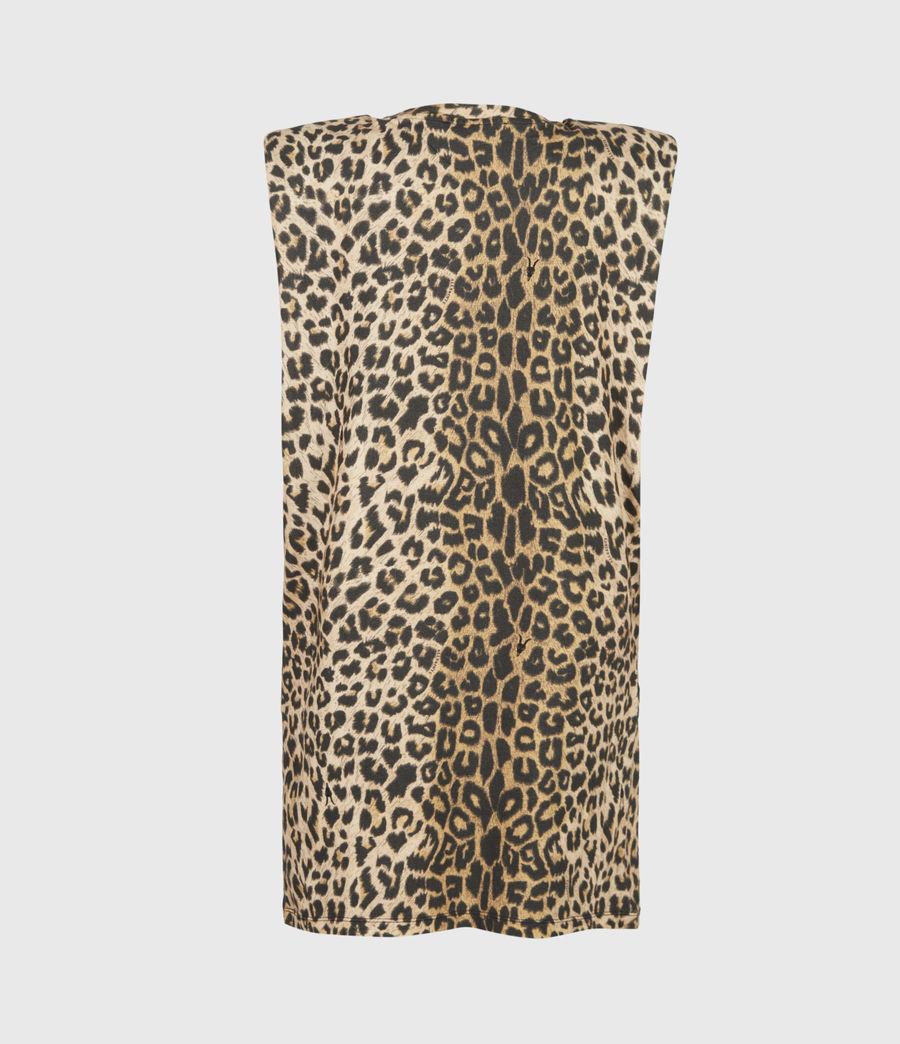 Women's Coni Dropout Dress (leopard_yellow) - Image 3