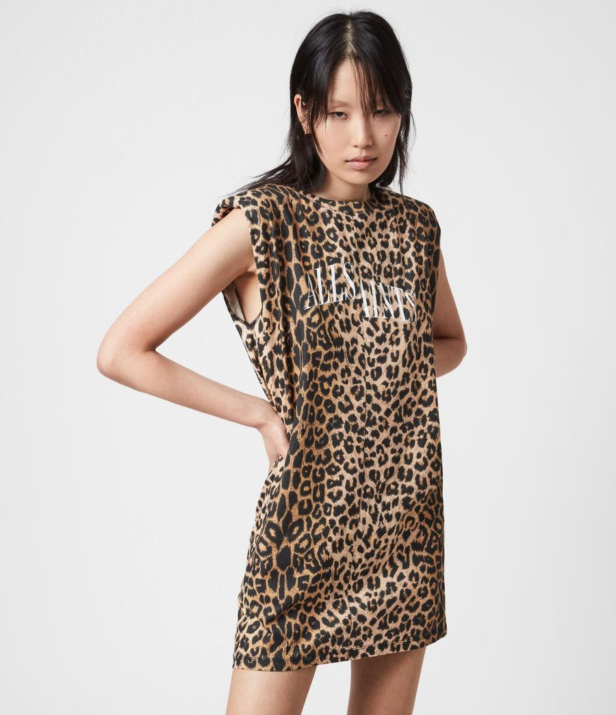 Women's Coni Dropout Dress (leopard_yellow) - Image 4