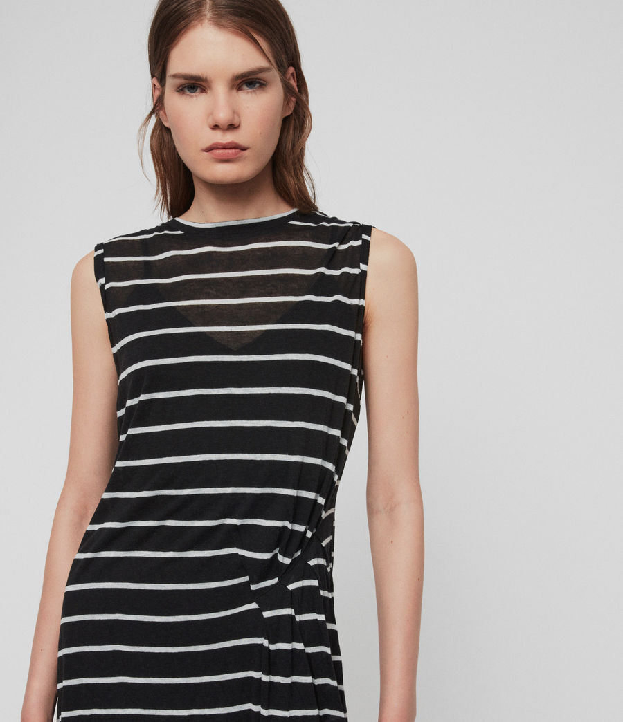 Womens Duma Stripe Dress (black_chalk_white) - Image 4
