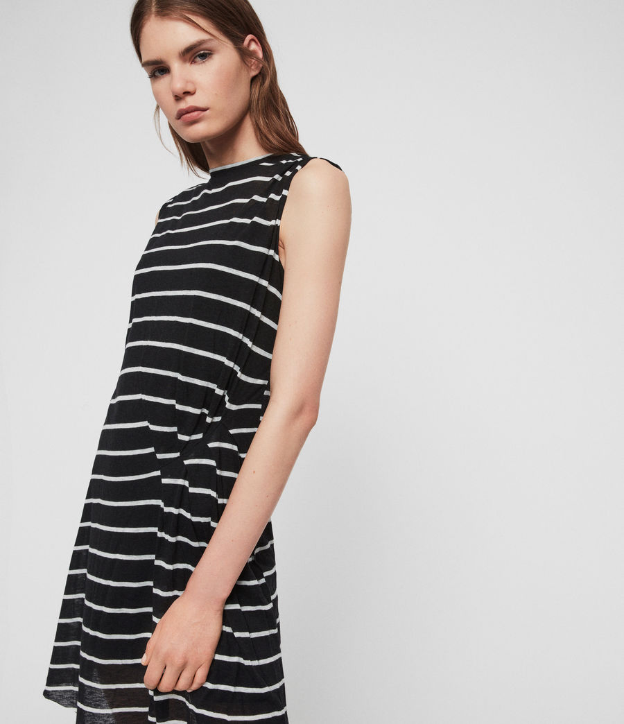 Womens Duma Stripe Dress (black_chalk_white) - Image 5