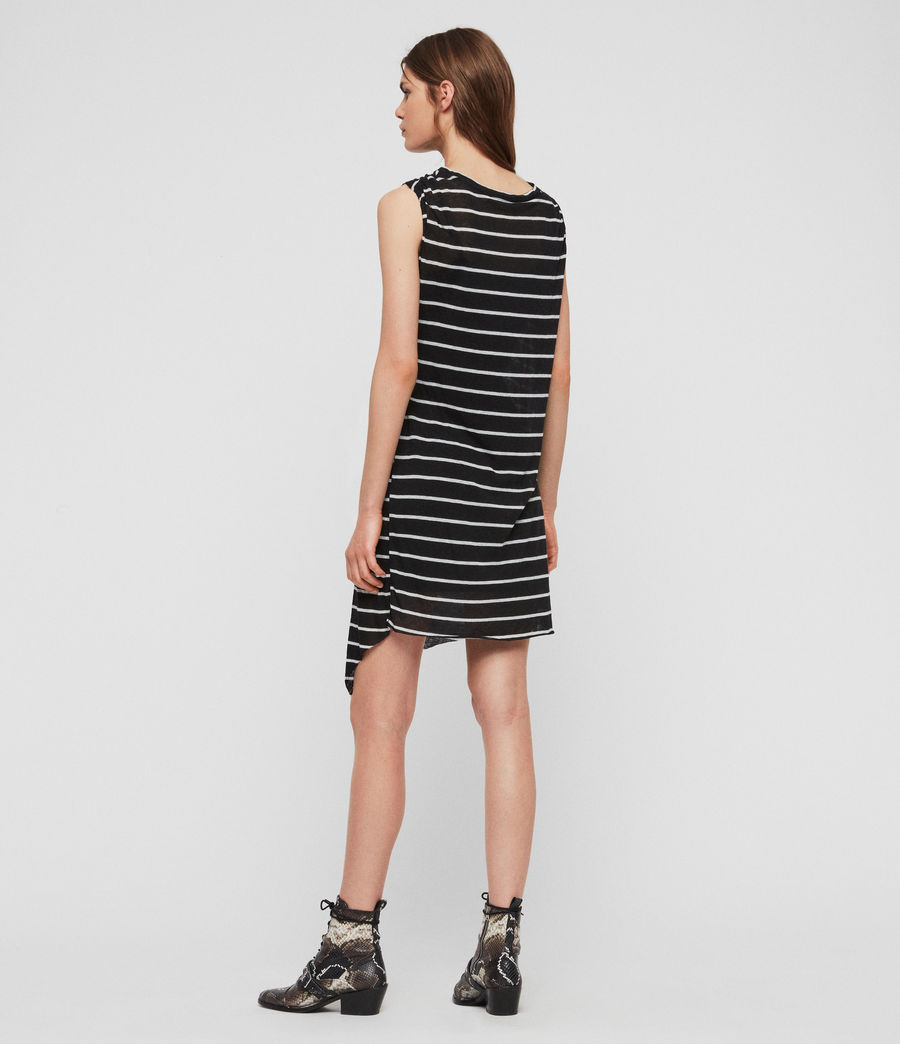 Womens Duma Stripe Dress (black_chalk_white) - Image 6
