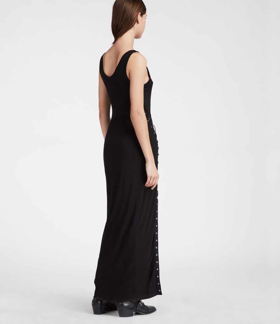 Women's Miller Long Dress (black) - Image 4