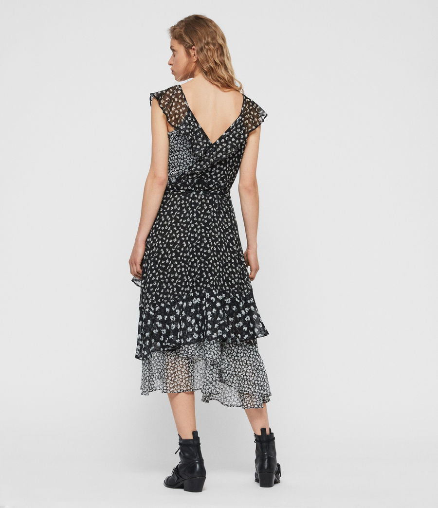 Womens Kari Scatter Dress (black) - Image 4