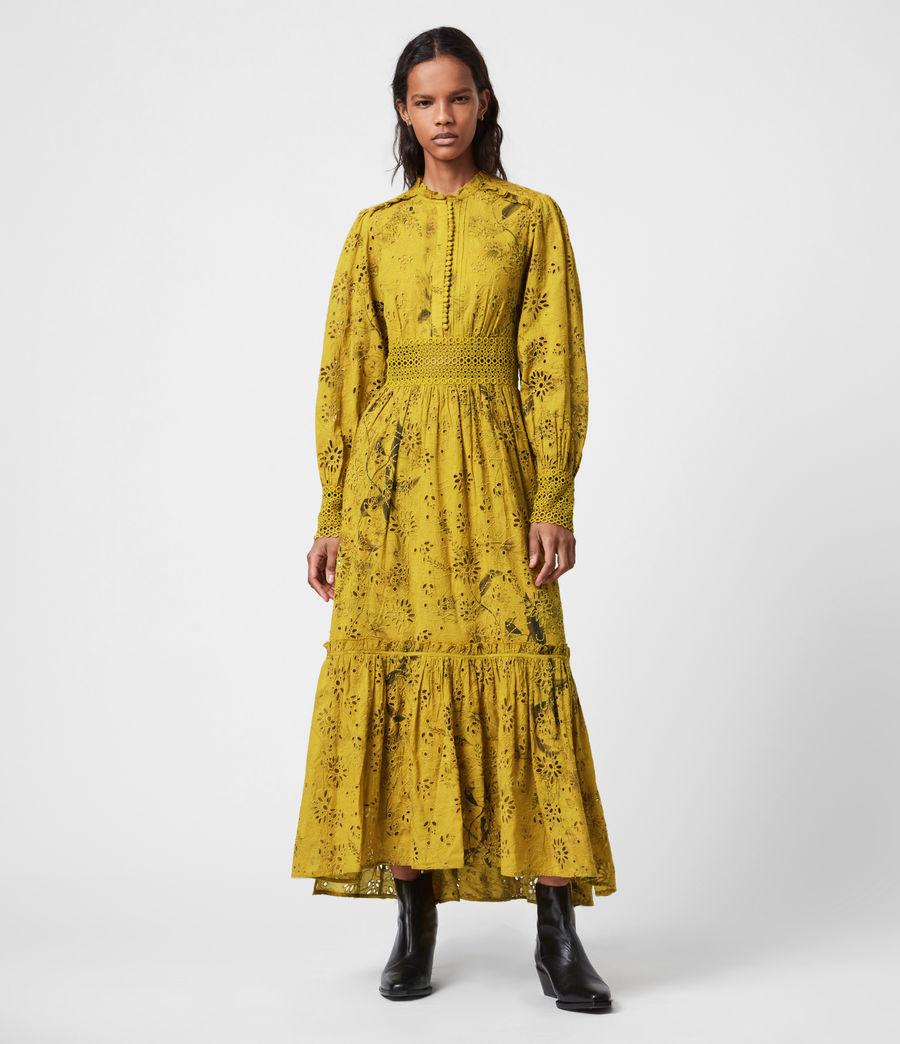 Women's Sia Demoir Broderie Dress (garden_olive) - Image 1