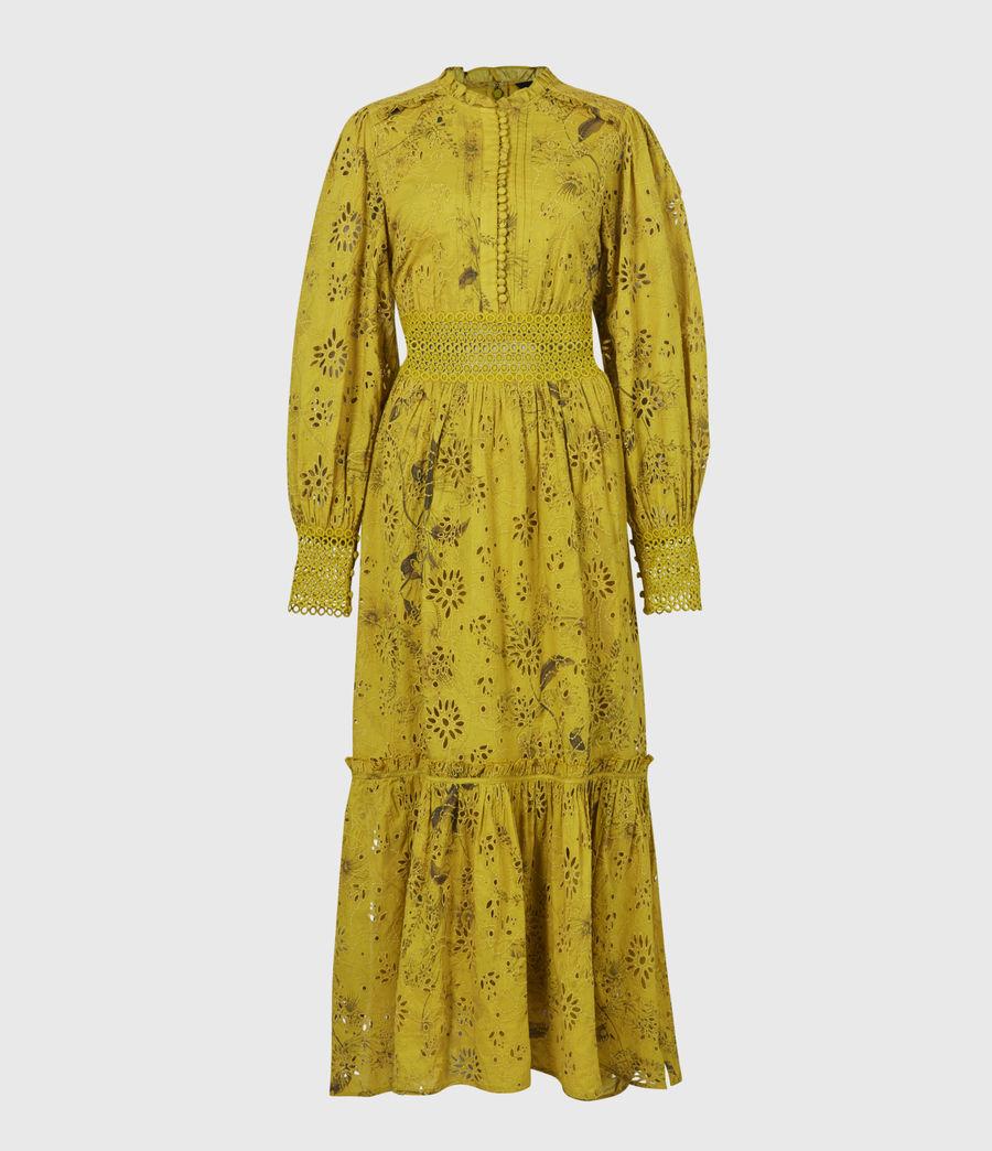 Women's Sia Demoir Broderie Dress (garden_olive) - Image 2