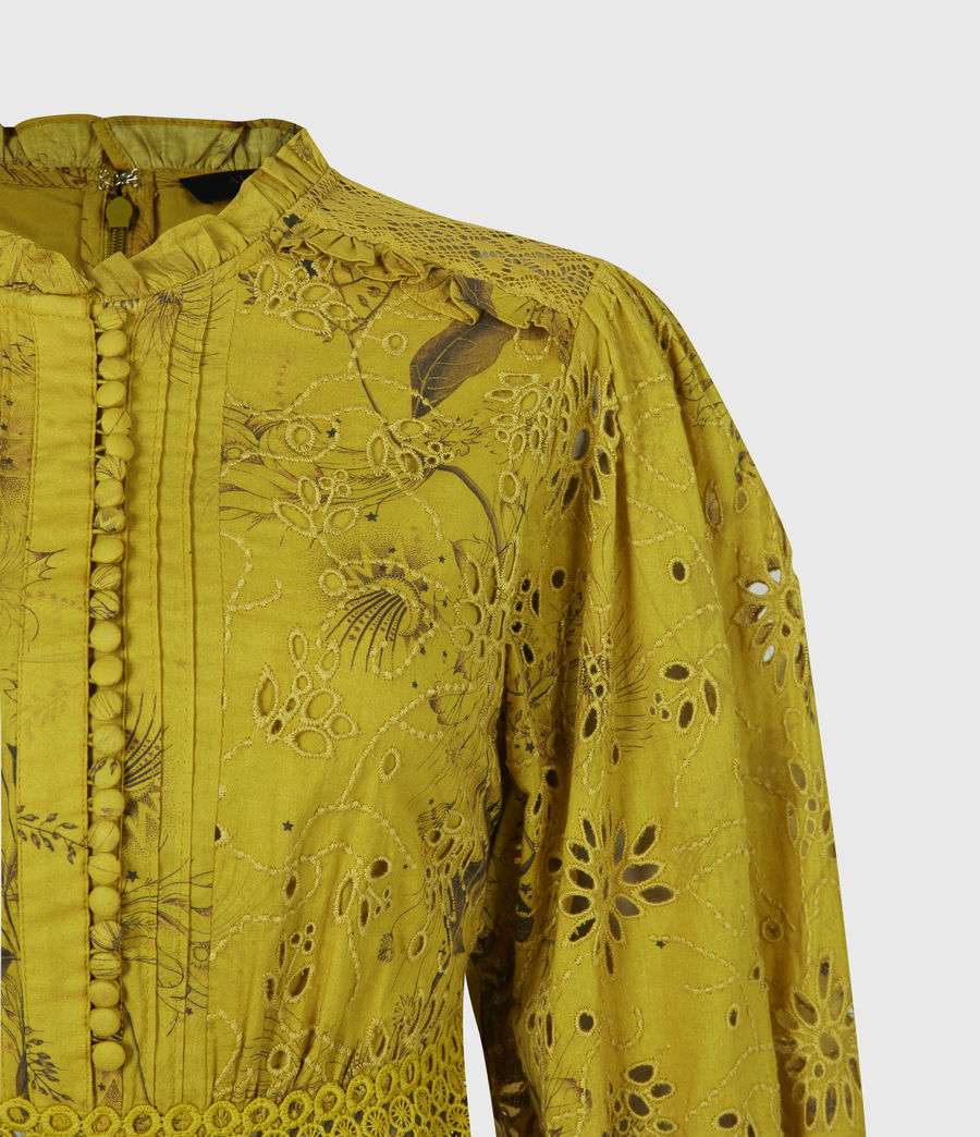 Women's Sia Demoir Broderie Dress (garden_olive) - Image 4