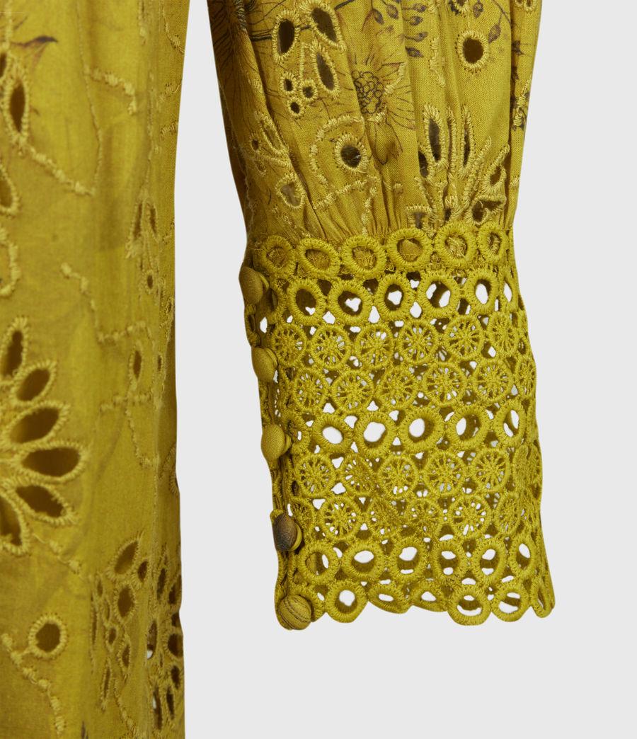 Women's Sia Demoir Broderie Dress (garden_olive) - Image 5