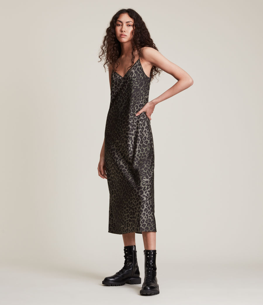 Women's Tierny Leppo Slip Dress (khaki_green) - Image 2