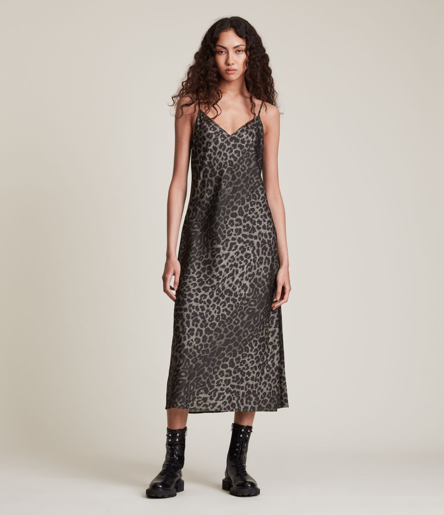 Women's Tierny Leppo Slip Dress (khaki_green) - Image 4
