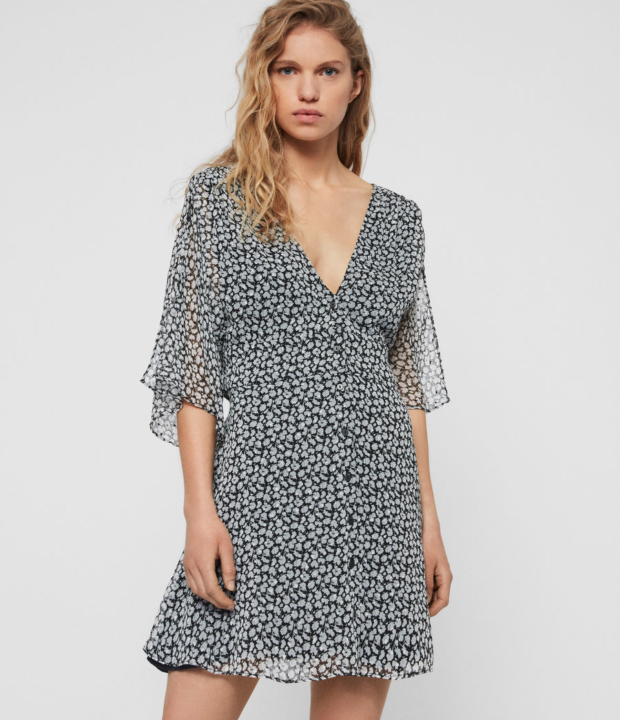 Womens Ivey Scatter Dress (grey) - Image 1