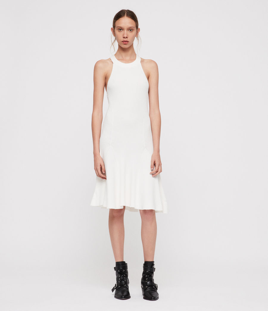 Mujer Vestido Elsa (ecru_white) - Image 1