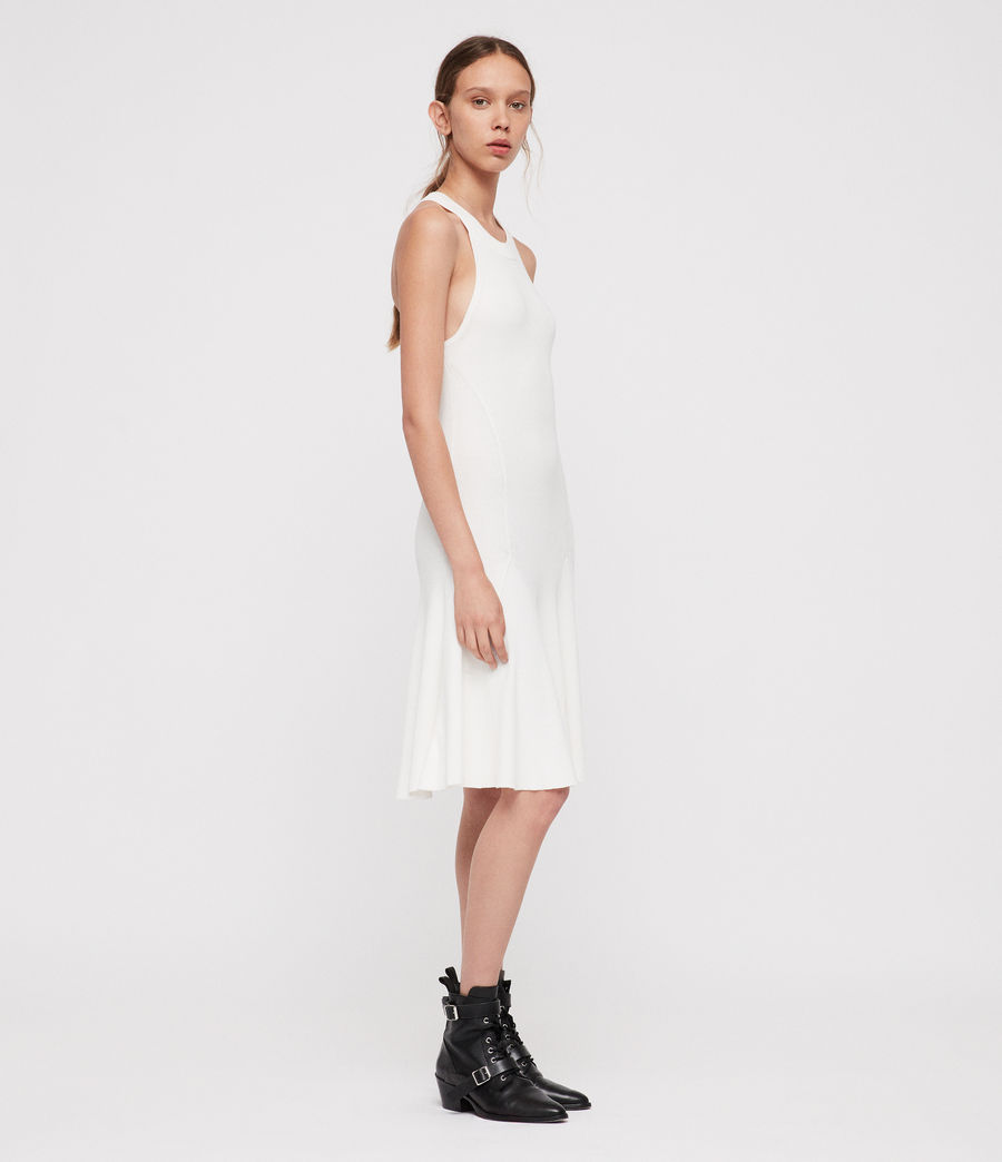 Mujer Vestido Elsa (ecru_white) - Image 4