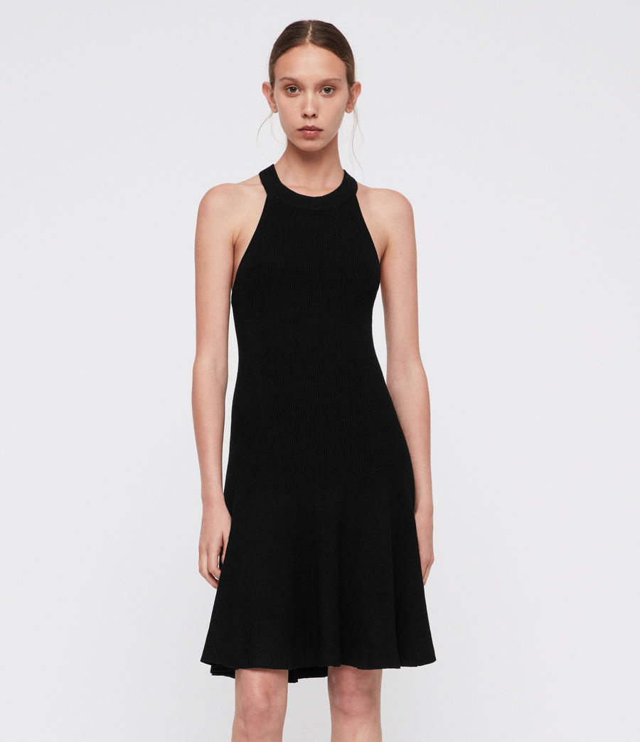 Womens Elsa Dress (black) - Image 1