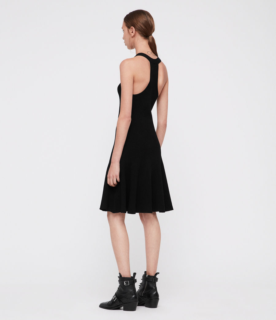 Womens Elsa Dress (black) - Image 2