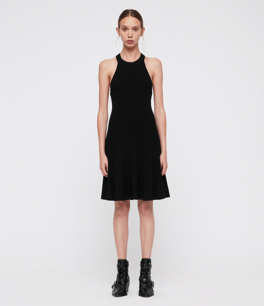 Womens Elsa Dress (black) - Image 4