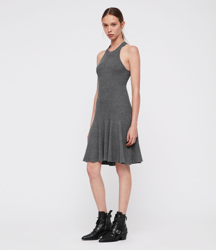 Damen Elsa Kleid (grey_twist) - Image 1