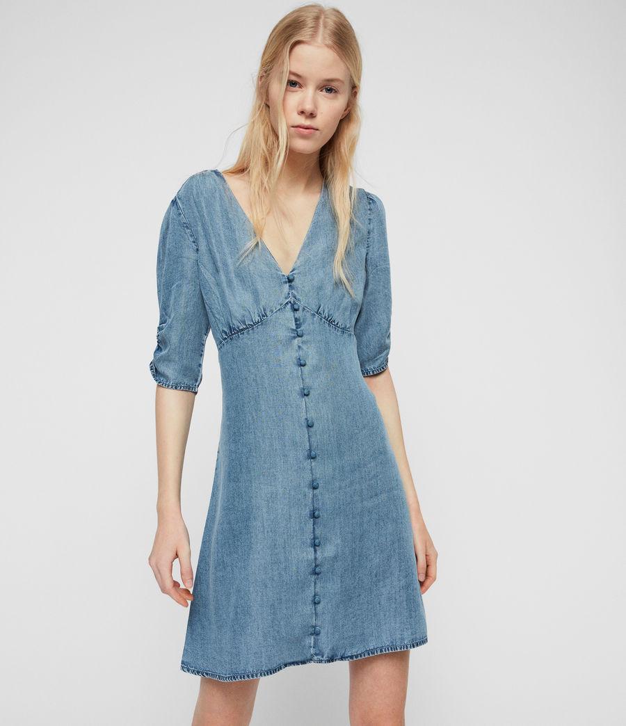 Women's Kota Tencel Dress (indigo_blue) - Image 1