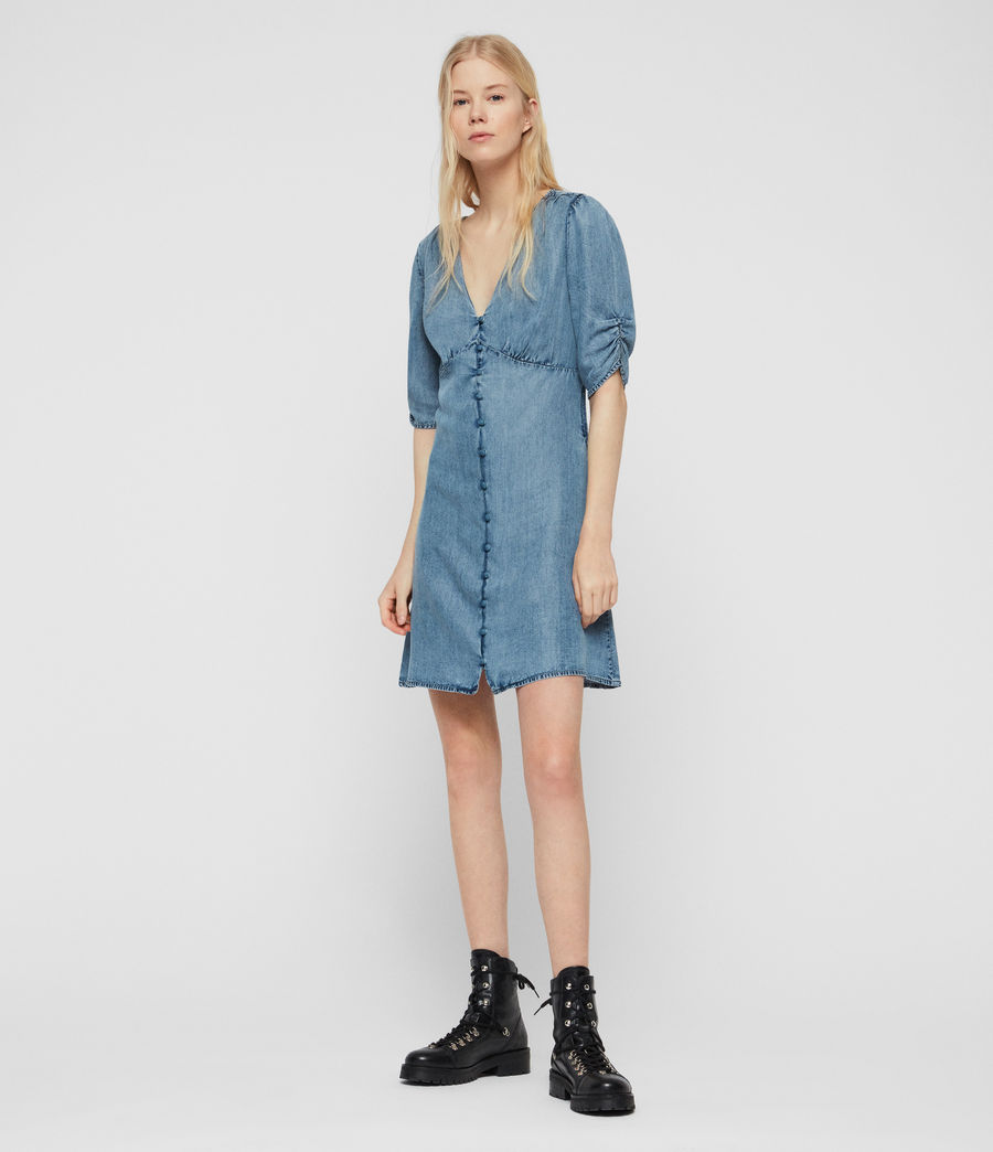 Womens Kota Tencel Dress (indigo_blue) - Image 3