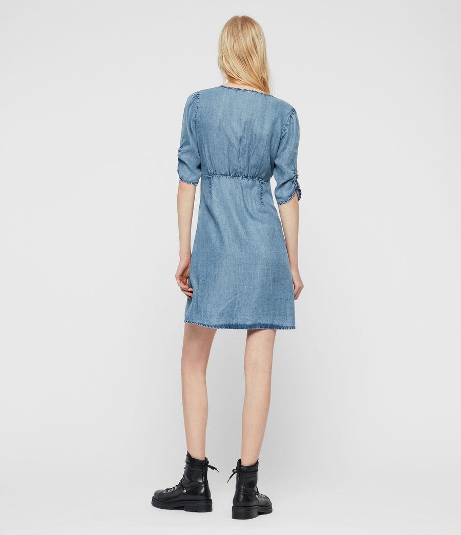 Womens Kota Tencel Dress (indigo_blue) - Image 5