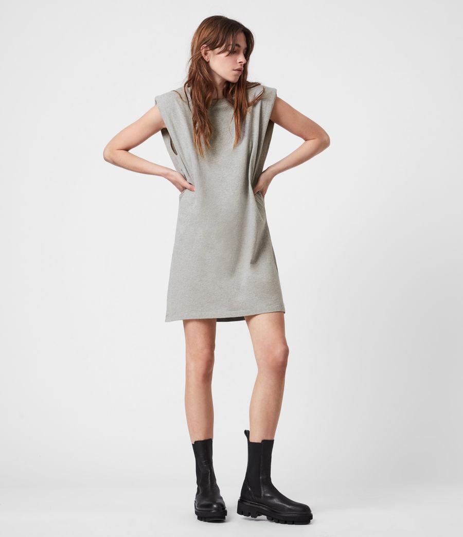 Women's Coni Organic Cotton Tank Dress (grey_marl) - Image 1