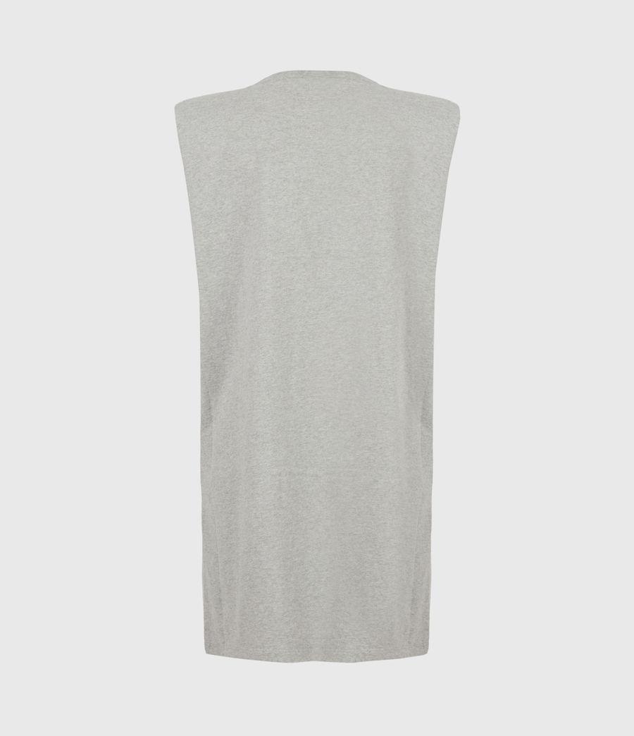 Women's Coni Organic Cotton Tank Dress (grey_marl) - Image 3