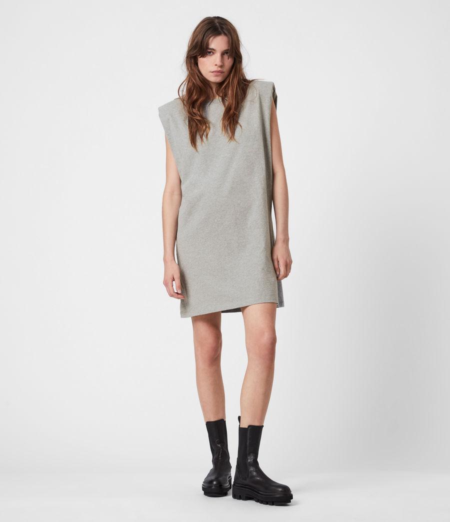 Women's Coni Organic Cotton Tank Dress (grey_marl) - Image 4