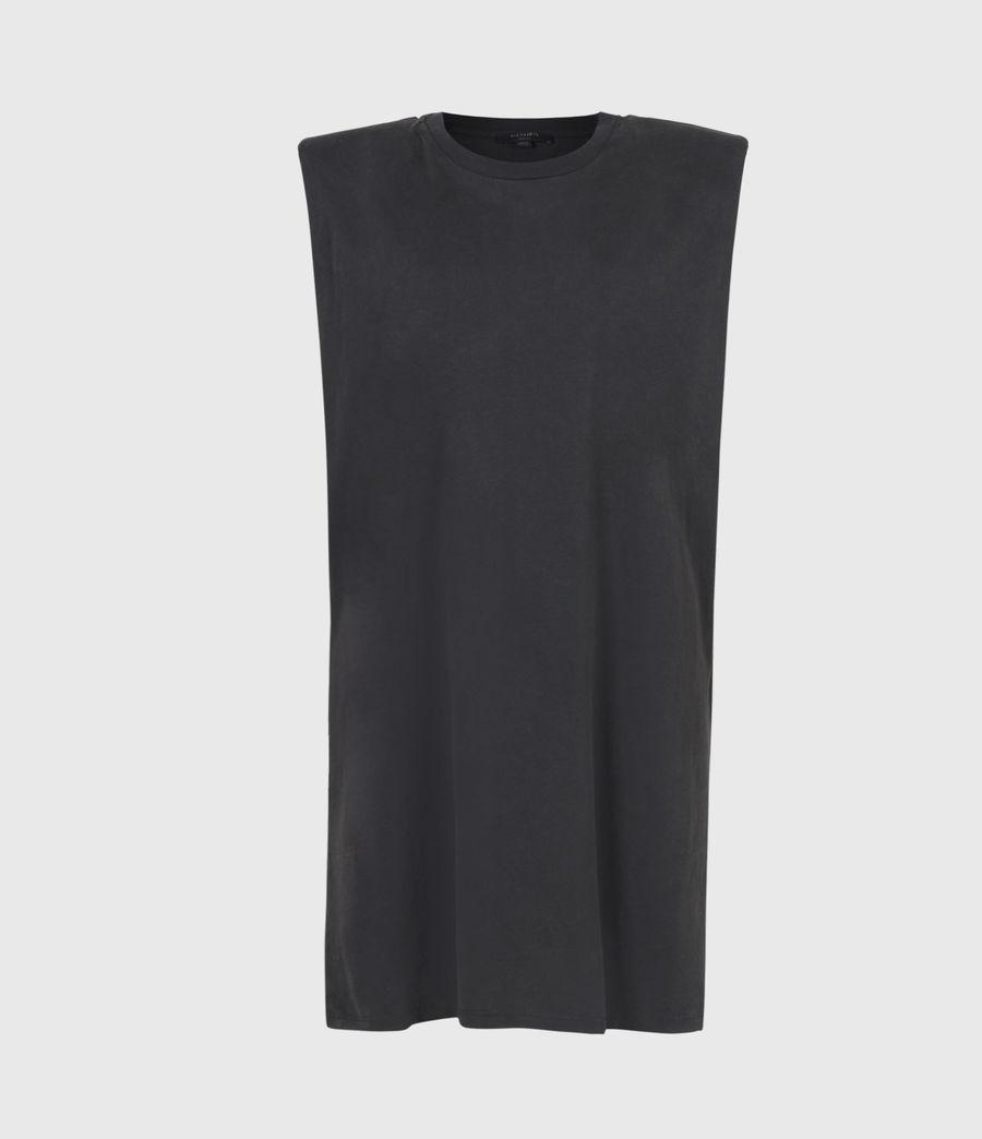 Womens Coni Organic Cotton Tank Dress (acid_washed_black) - Image 2