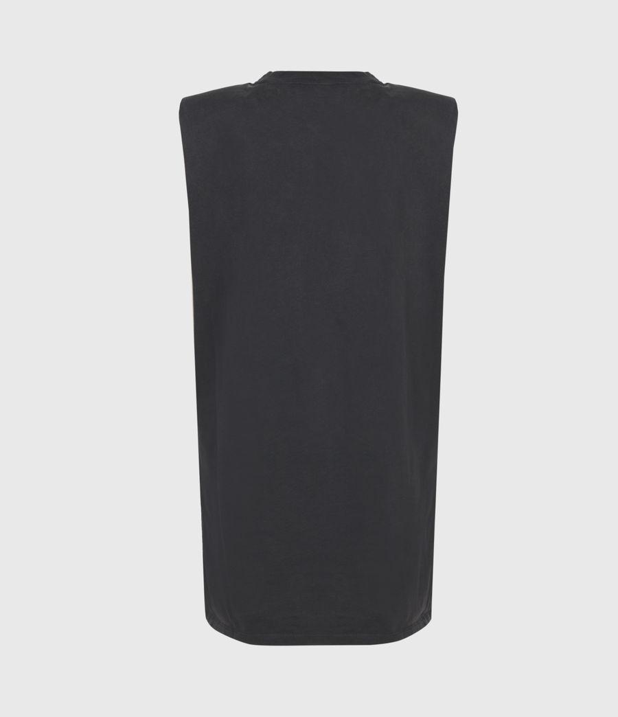 Womens Coni Organic Cotton Tank Dress (acid_washed_black) - Image 3