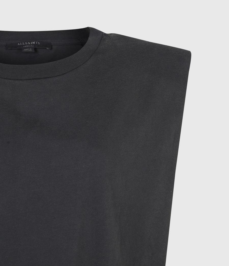 Womens Coni Organic Cotton Tank Dress (acid_washed_black) - Image 5