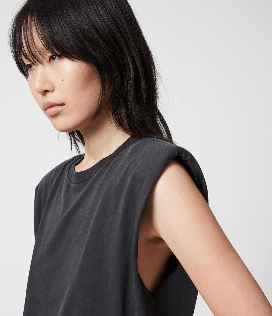 Womens Coni Organic Cotton Tank Dress (acid_washed_black) - Image 6