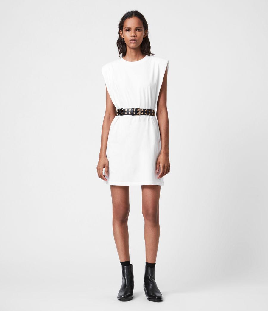 Femmes Robe en Coton Bio Coni (optic_white) - Image 1