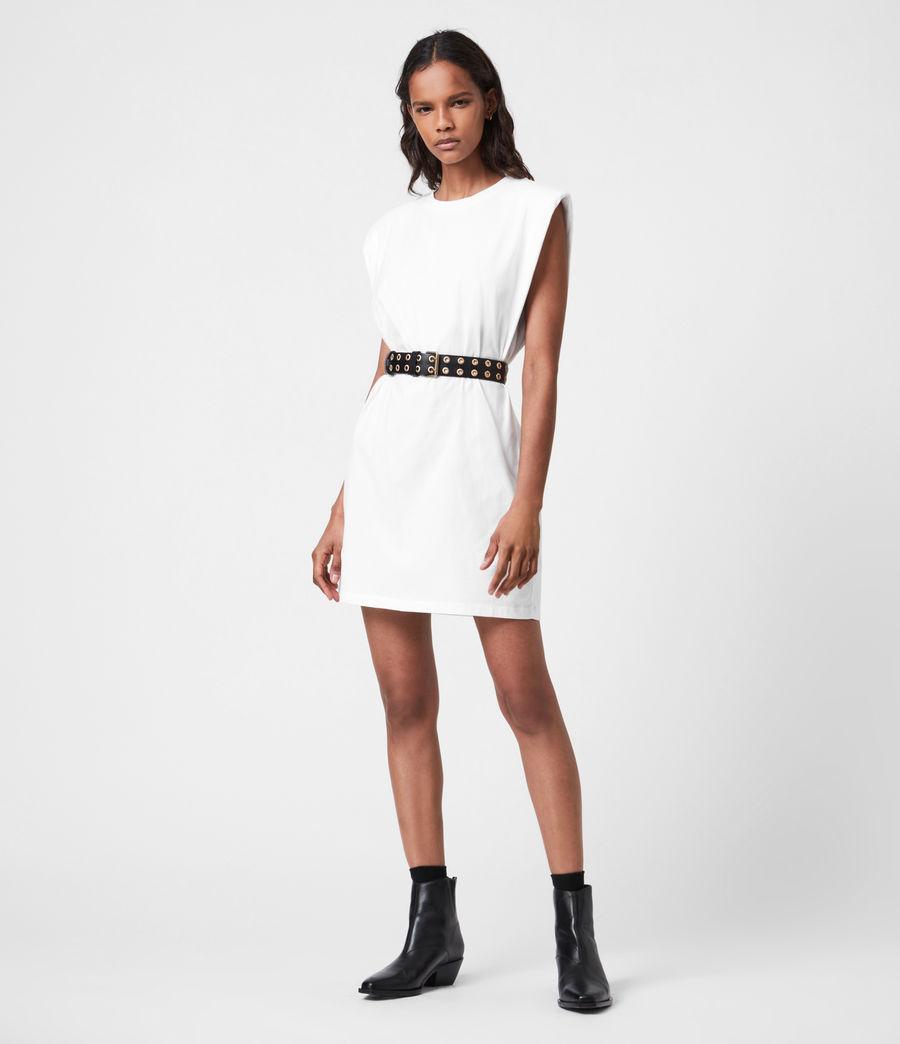 Femmes Robe en Coton Bio Coni (optic_white) - Image 4