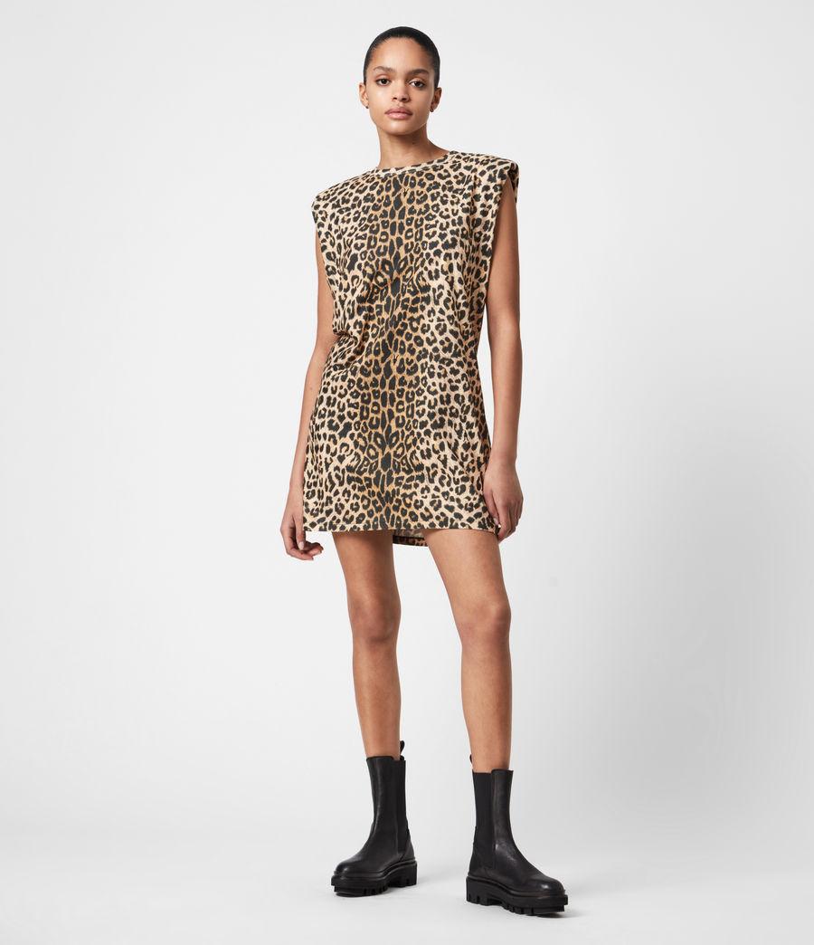 Femmes Robe en Coton Bio Coni (leopard_yellow) - Image 1