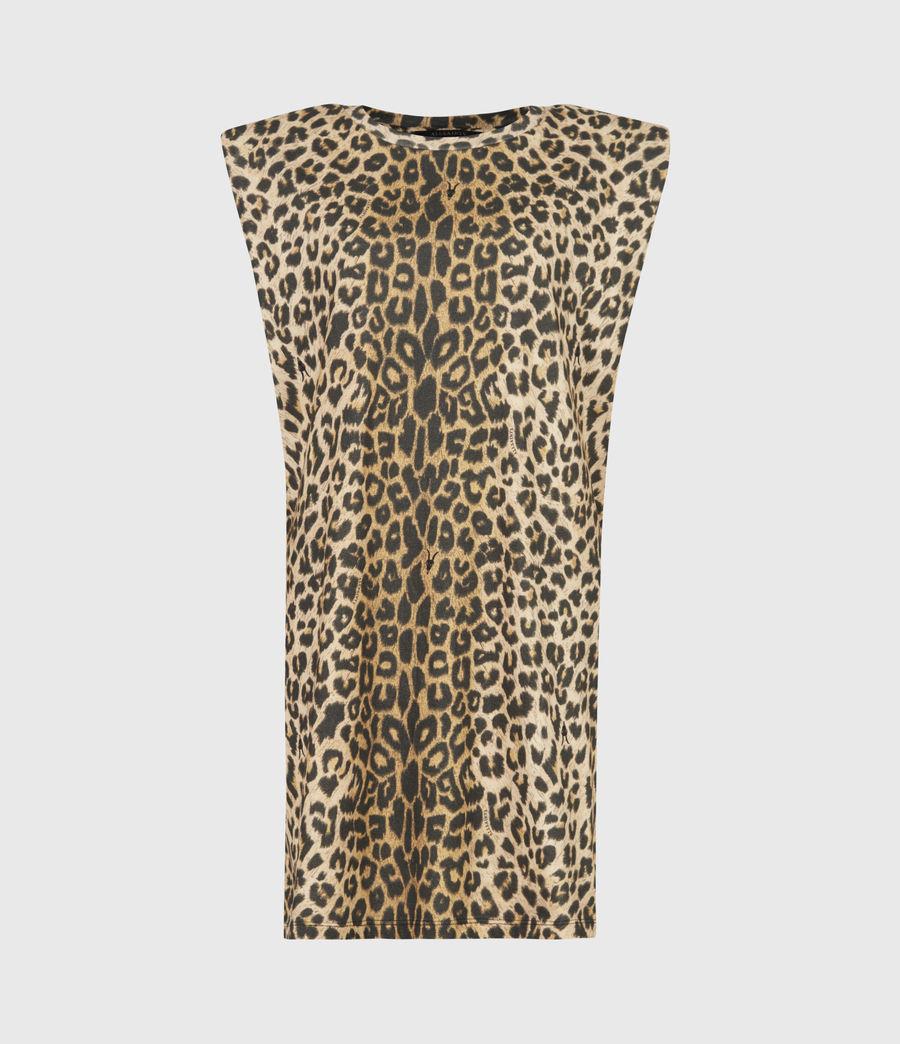 Femmes Robe en Coton Bio Coni (leopard_yellow) - Image 2