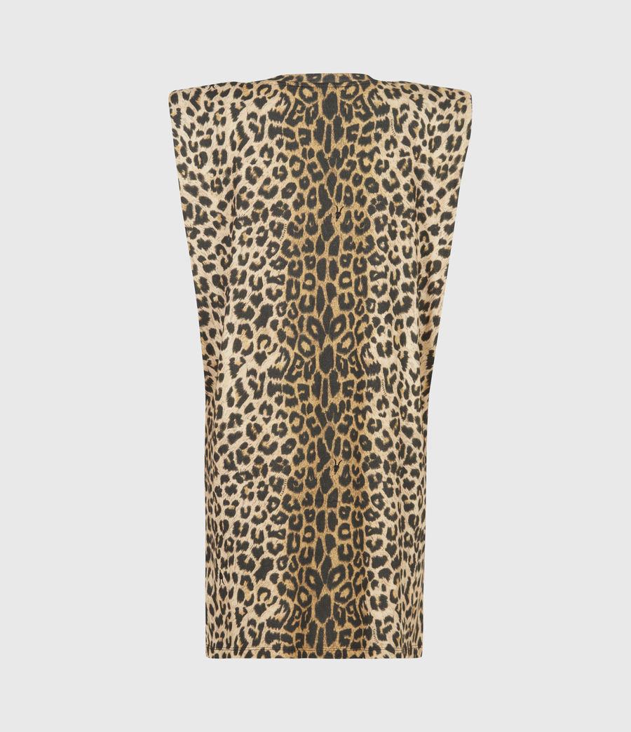 Femmes Robe en Coton Bio Coni (leopard_yellow) - Image 3