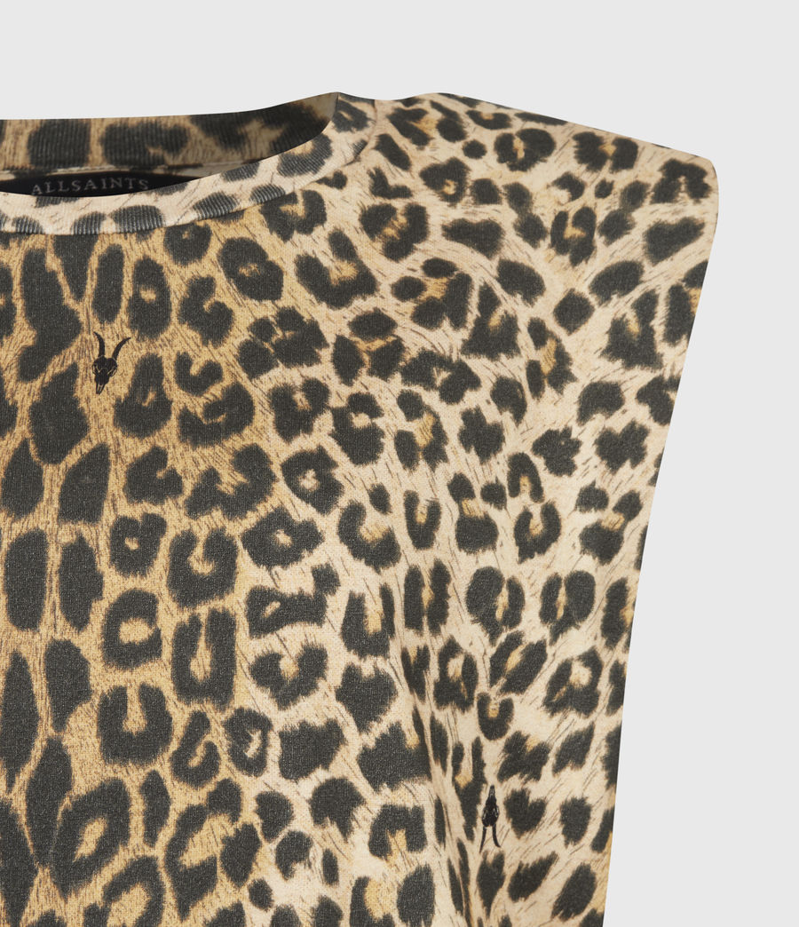 Femmes Robe en Coton Bio Coni (leopard_yellow) - Image 5