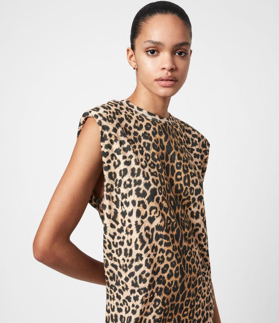 Femmes Robe en Coton Bio Coni (leopard_yellow) - Image 6