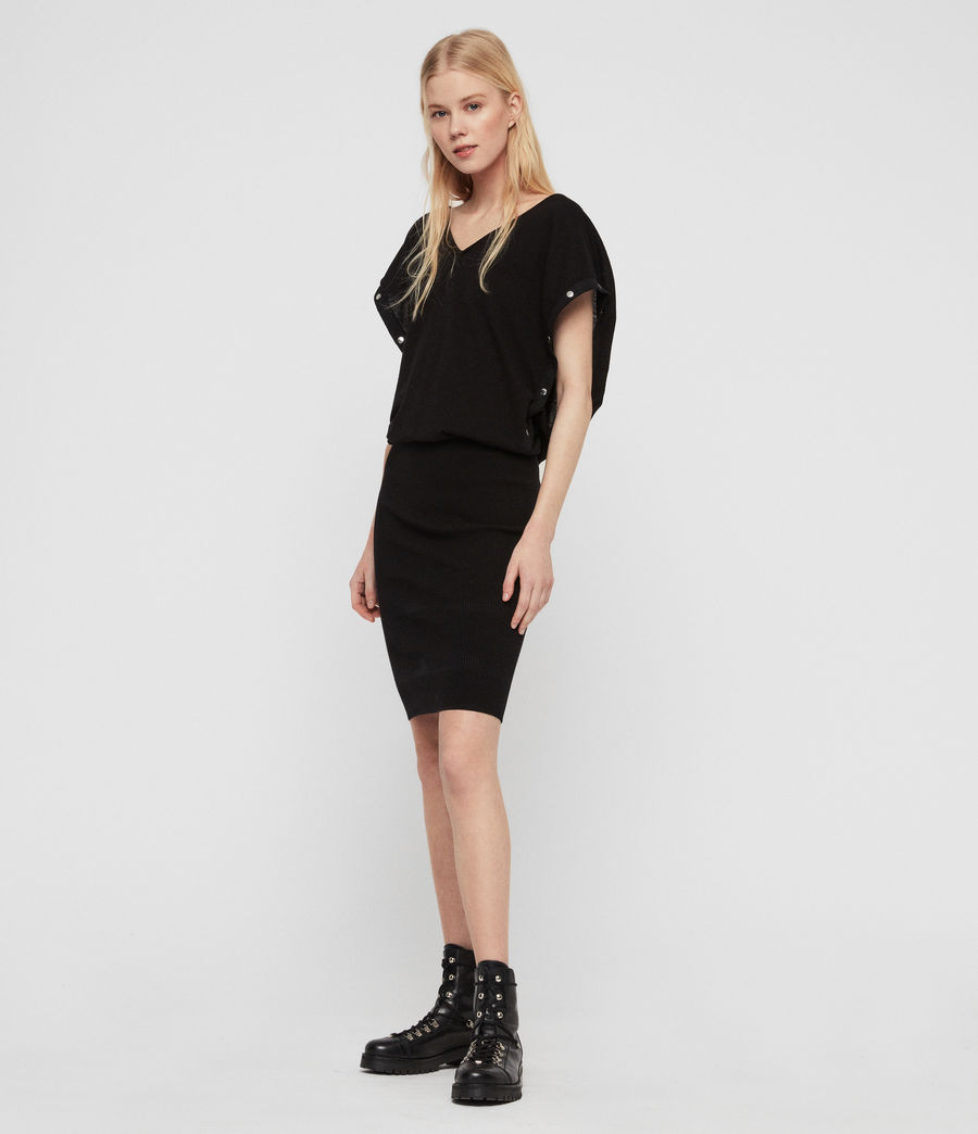 Womens Suri Dress (black) - Image 2