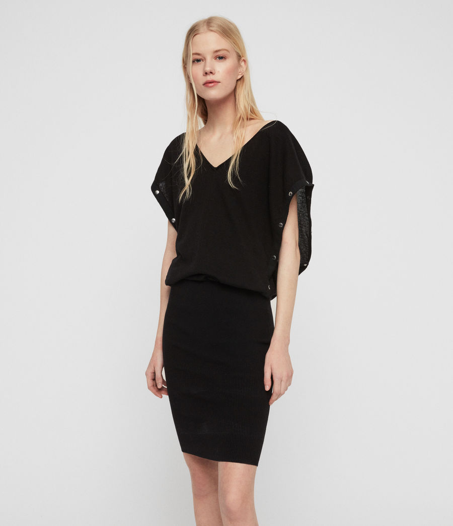 Womens Suri Dress (black) - Image 4